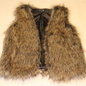 Faux Fur Vest- New without tags